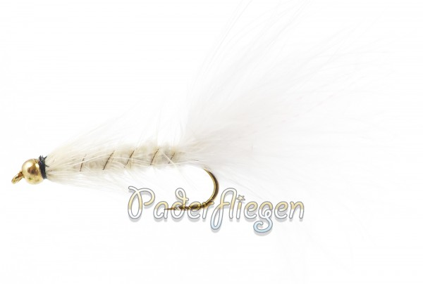 Woolly Bugger White BH