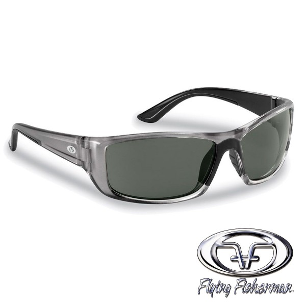 Buchanan Polbrille Kristallsilber/smoke von Flying Fisherman