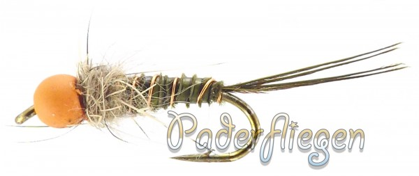 Pheasant Tail Tungsten Orange Head