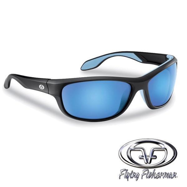 Cayo Polbrille Mattschwarz / Smoke-blau verspiegelt