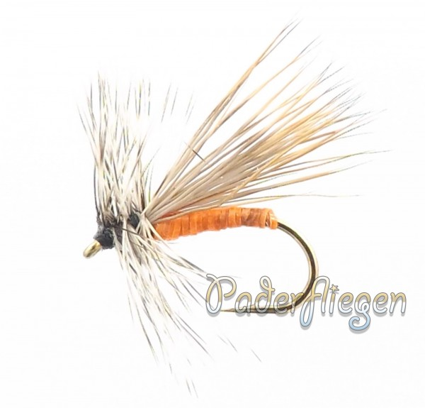 Dry Hackle Elk Orange