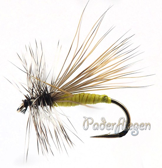 Dry Hackle Elk yellow