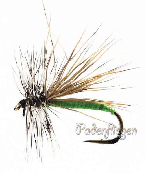 Dry Hackle Elk green