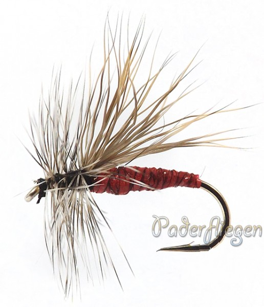 Dry Hackle Elk red