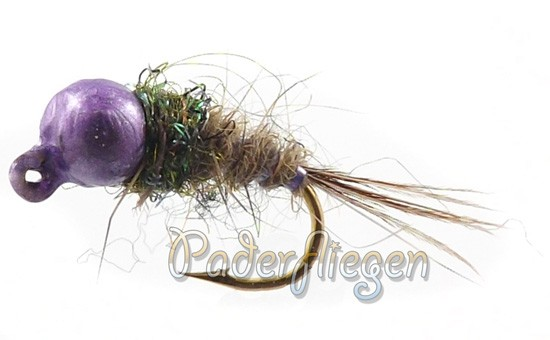 Tungsten Jig Purple Head Pheasant Tail