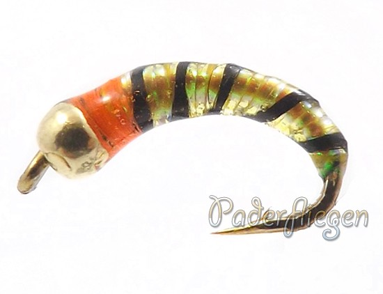 Perdigon Tungsten Yellow Orange Spot Nymphe