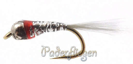 Perdigon Tungsten Silver Red Spot Nymphe
