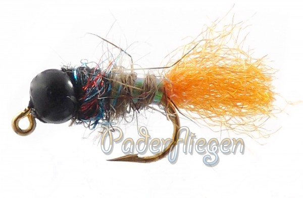 Tungsten Jig Black Head Orange Tag