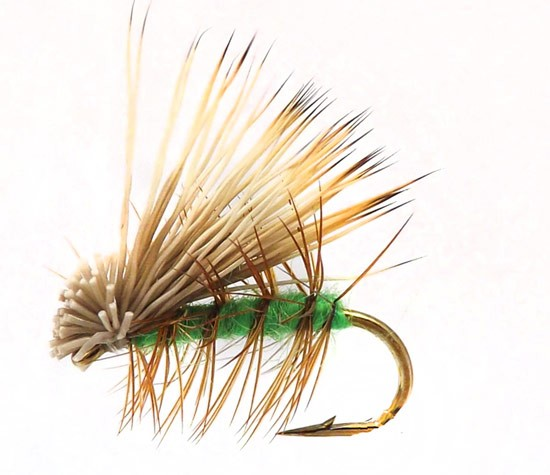Elk Hair Caddis Bright Green