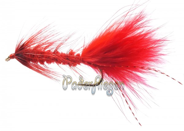 Woolly Bugger Red BH-Copy